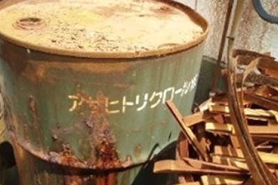 例1:特定有害物質を含む原材料の保管状況