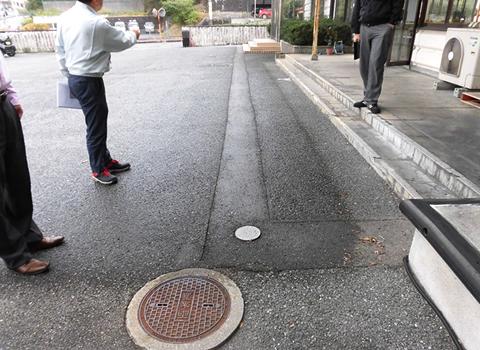 例2:図面にない排水経路の確認